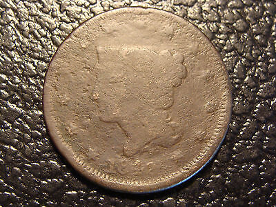 1842 Braided Hair Large Cent Good WE COMBINE ON SHIPPING