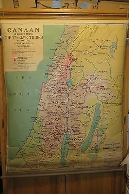 Antique map of Canaan As Divided Among The Twelve Tribes