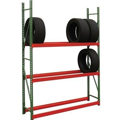 "Auto Tire Wheel Rim Storage Racks 18""d x 96""w x 96""h Bulk Rack FastRak Shelving"