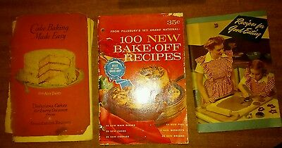 Lot of 34 Vintage Advertisement Cookbooks & Appliance manuals 1920s-60s