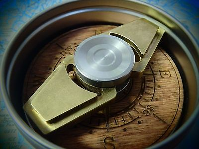 Zerofeud compass spinner - Brass and stainless steel