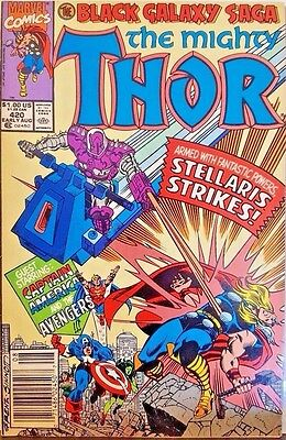 The Mighty Thor #420: The Black Galaxy Saga (Aug 1990 Marvel Comics) 7.5/VF-