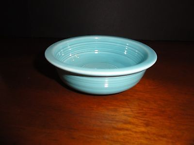 "Homer Laughlin 1937--1969 Fiesta ~ Original Turquoise 4 3/4"" Fruit Bowl"