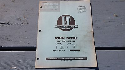 1956 John Deere Flat Rate Manual JD-7