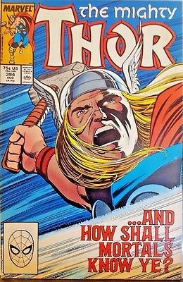 The Mighty Thor #394: How Shall Mortals Know Ye (Aug 1988 Marvel Comics) 7.5/VF-