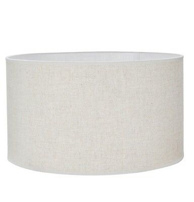 Mix n Match LARGE LAMP SHADE Linen Fabric Tapered Drum 44x40x22cm, BEIGE