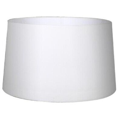 Mix n Match LARGE LAMP SHADE Linen Fabric Tapered Drum 44x40x22cm, WHITE