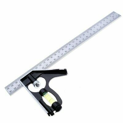 [NEW] 300mm Horizontal Angle Square Stainless 90 Dgree Woodworking Ruler