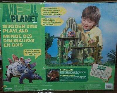 Vintage Toys Animal Planet Wooden Dino Playland Dinosaurs With Box And More