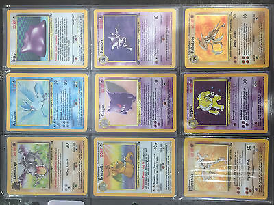 Pokemon Cards Fossil Set Complete - N/Mint