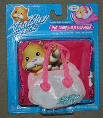 Zhu Zhu Pets Hamster Pet Carrier and Blanket Sealed and Minty Pink Original