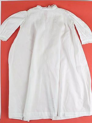 Antique Handmade Lace Smocking Fine Cotton Voile Baby Dress Gown Embroidered