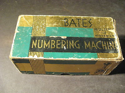 BATES 6 WHEEL TYPE E NUMBERING MACHINE in Box