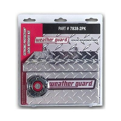 Brand New Weather Guard Replacement Extreme Protection Lock Kit 7838-2Pk
