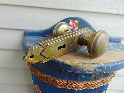 vintage /antique  handle with back plates   # 3510