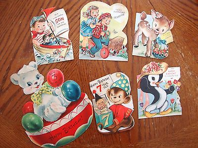 Lot Of 6 1950's 1960's Birthday Cards Used