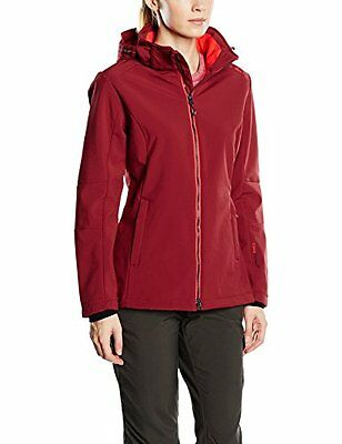 CMP F.lli Campagnolo Giacca Softshell, Donna, Rosso (Ketchup), 54