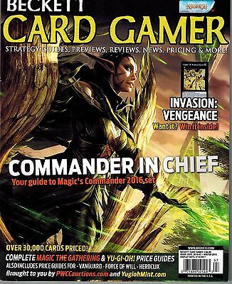 New Beckett Card Gamer Mtg Winter 2016 Mtg Commander In Chief Strategy Guide