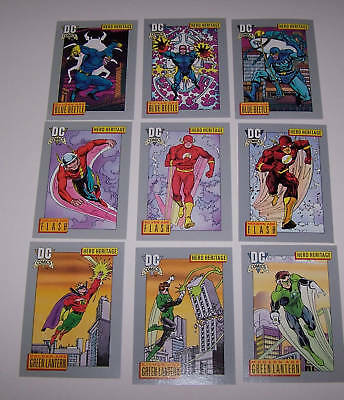 DC Comic Card Set with Holograms From 1991