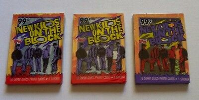 New Kids on the Block Card Packs x 3