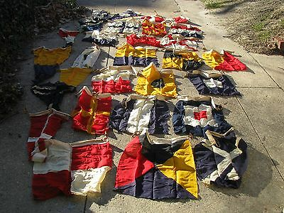 Vintage Early 1900's Yatch 29 Signal Flags