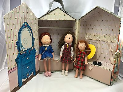 Madeline OLD HOUSE IN PARIS Dollhouse Storage And Three Dolls PlaySet Gift