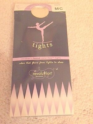 REVOLUTION Color-Flow Footed  Dance Tights Classic Pink Size: MC