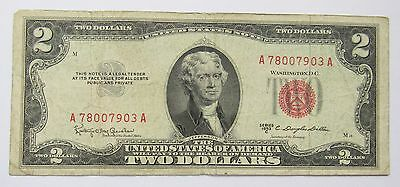 1953-C $2 -Two U.S. Dollar Banknote (Red Seal)