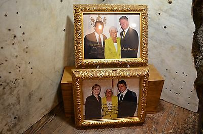 Authentic Pair of Signed Photos Pres. Bill Clinton, Hillary Clinton, Garry Mauro
