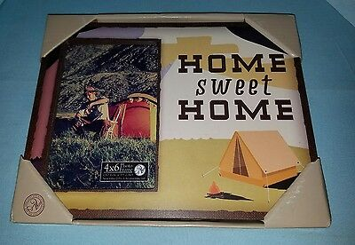 DISNEY PARKS HOME SWEET HOME 4X6 PHOTO PICTURE FRAME NEW Camping Home decor