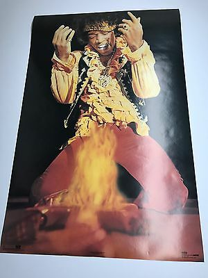 """Vintage 1991 Jimi Hendrix Are You Experienced  23"""" x 35"""" Rock Concert Poster"""