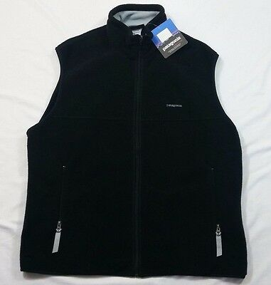 Nwt Patagonia Black Men's Synchilla Fleece Vest Size Xl Extra Large