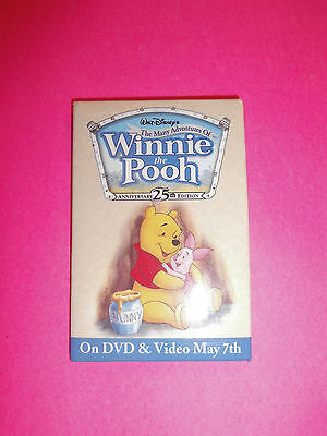 The Many Adventures of Winnie the Pooh Promo Button Pin Disney