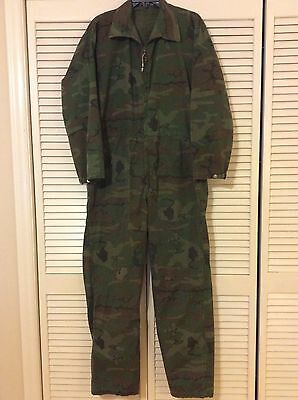 Vintage Military Camouflage Rip Stop Men's Coveralls W36 X L30