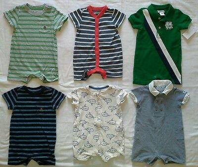 Baby Boys 3/6 6 months Spring Summer Clothes Rompers Outfits Lot