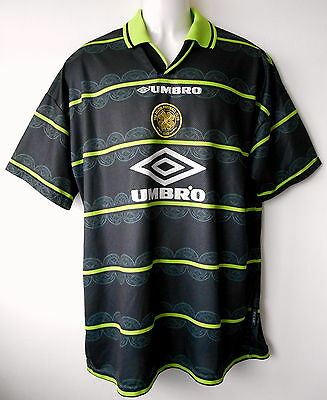 Celtic Football Shirt Vintage 1998-99 Away Strip Official Authentic Mens XL 46in