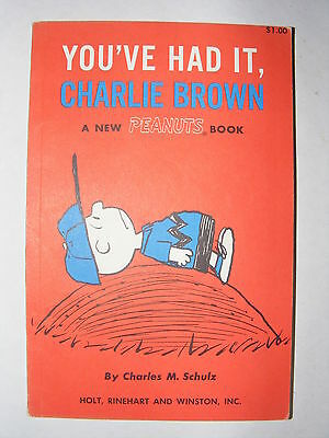 You've Had It Charlie Brown 1969 1st Edition - Charles M. Schulz