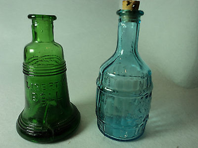 Green Liberty Bell and Blue Root Bitters Miniature Bottles (BO046)