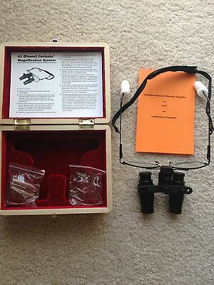 DenMat Cerinate 4X (Power) Magnification System Dental Surgical Loupes
