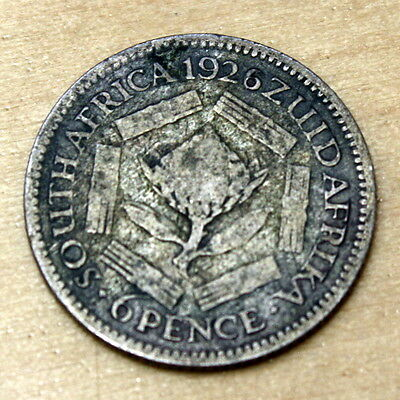 1926 South Africa 6 Pence Silver