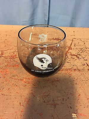 "Vintage St. Louis Cardinals NFL Rounded Smoked Glass Cup 3"" (3 Available)"