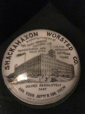 Advertising Paperweight Shackamaxon Worsted Co