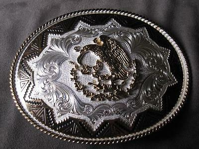 Montana Silver Smiths Mexico Coat Of Arms - Eagle / Serpantt Belt Buckle