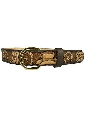 New Personalized Leather Children Belt 18 20 22 24 26 28  Removable belt buckle