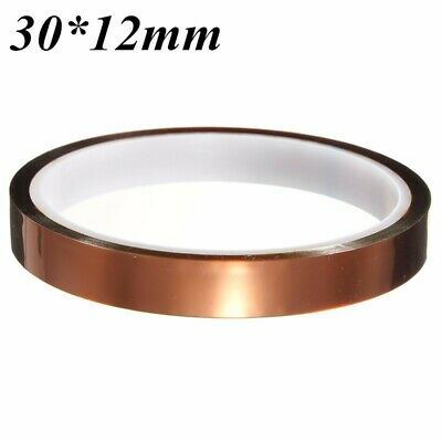 [NEW] 30m*12mm High Temperature Heat Resistant Polyimide Adhesive Tape for Elect
