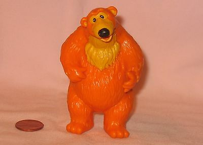 """3-1/2"""" Solid PVC Figure Of Orange Bear From Bear In Big Blue House"""