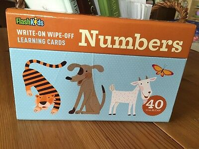 Flash Kids Numbers Write On Wipe Off Learning Cards