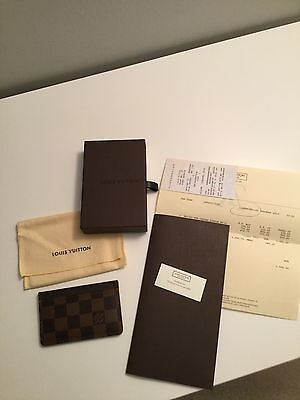 Authentic Louis Vuitton Card Holder - Damier Ebene
