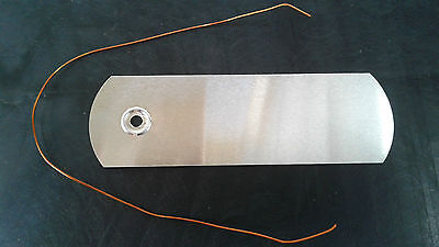 200 ALUMINIUM PLANT LABELS / TAGS with copper wire ties