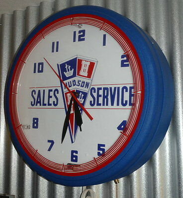 "20"" Neon HUDSON Electric Wall Clock"